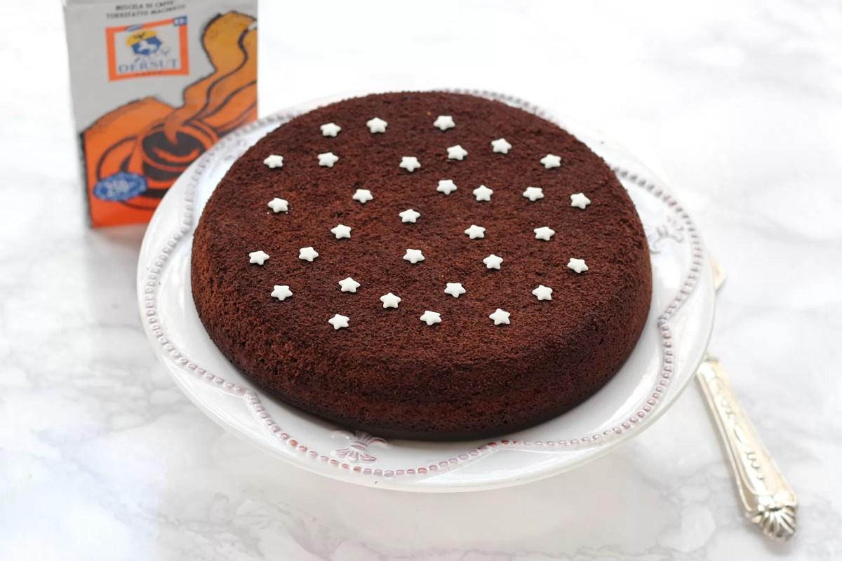 Torta in padella al cacao e caffè
