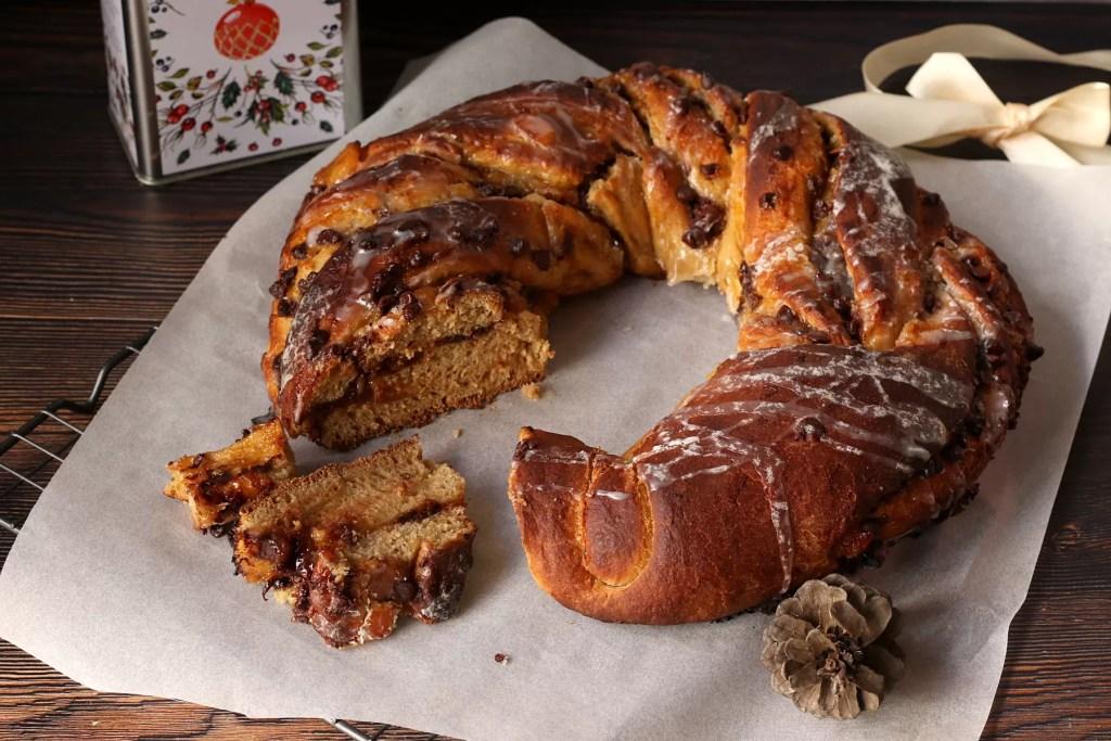 Ghirlanda di pane dolce