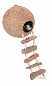 Kokosnoot voor dwerghamster hamsterhuisje