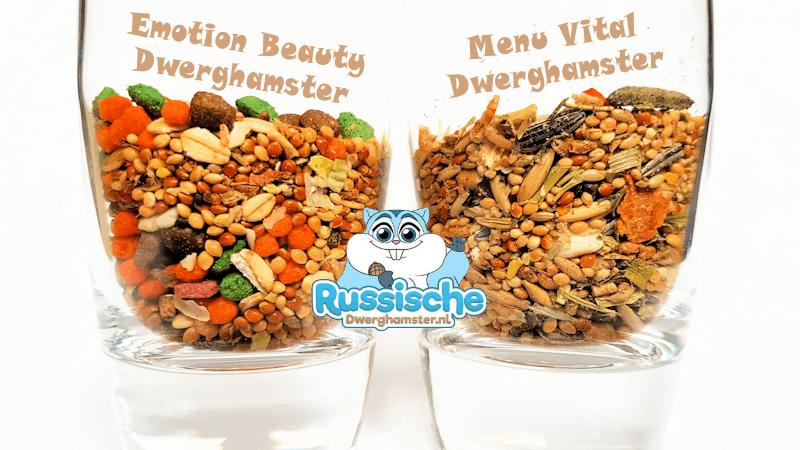 Het verschil tussen Vitakraft Beauty Selection en Vitakraft Menu Vital Dwerghamster