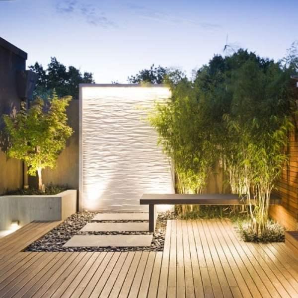 -Moderno de pared en cascada de agua