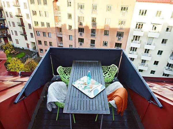 Ideas muebles pequeña terraza