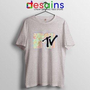 MTV Entertainment Sport Grey T Shirts Merch Logo