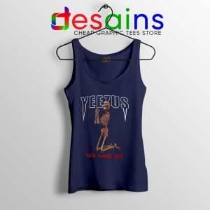 Tank Top Navy Yeezus God Wants You Merch Shop