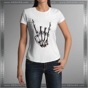 Buy Tshirt Rock On Skull Tshirt mens Tshirt womens Size S-3XL
