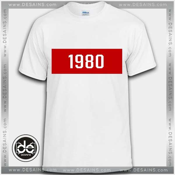 Buy Tshirt 1980 Year Custom Tshirt Womens Tshirt Mens Tees Size S-3XL
