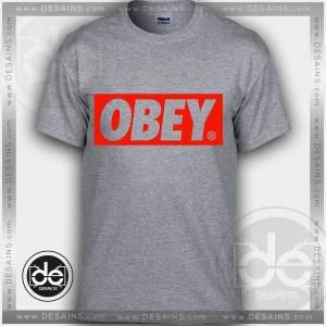Buy Tshirt Obey Red Logo Tshirt mens Tshirt womens Tees Size S-3XL