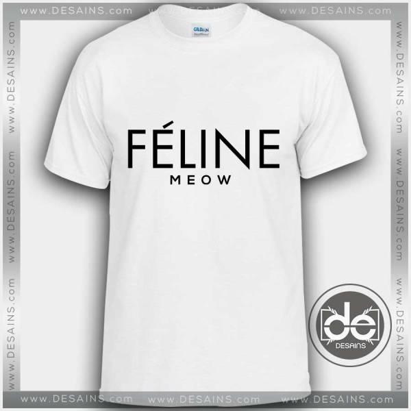 Buy Tshirt Feline Meow Tshirt mens Tshirt womens Tees Size S-3XL