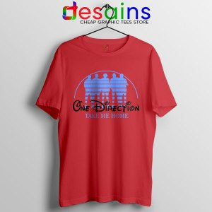 Red Tshirt One Direction Take Me Home Disney