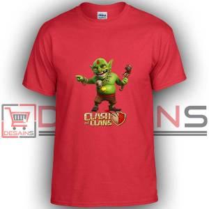 Buy Tshirt Clash Of Clans Goblin King Tshirt Kids Youth and Adult Tshirt Custom