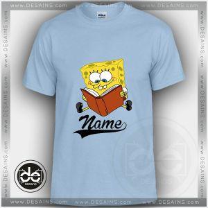 Buy Tshirt Spongebob Reading Tshirt Kids and Adult Tshirt Custom