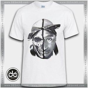 Buy Tshirt TUPAC Skull 2Pac rap Tshirt Womens Tshirt Mens Tees Size S-3XL