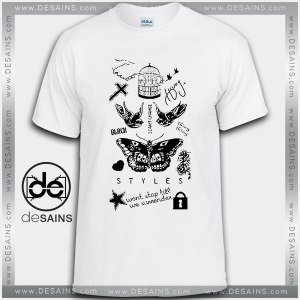 Cheap Graphic Tee Shirts Harry Styles Tattoos Tshirt On Sale