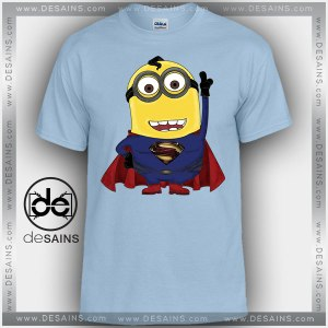 Cheap Graphic Tee Shirts Man of Steel Minions Tshirt Kids and Adult