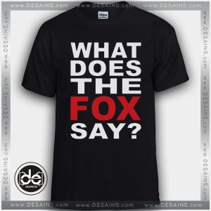 Cheap Graphic Tee Shirts Ylvis The Fox Tshirt on Sale