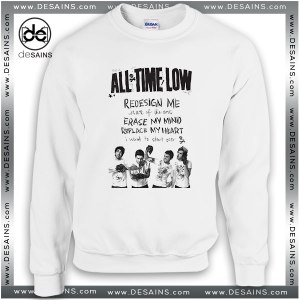 Cheap Graphic Sweatshirt All Time Low Art of the State Lyrics