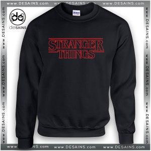 Cheap Graphic Sweatshirt Stranger Things Logo on Sale