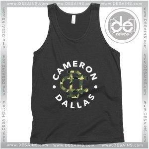 Cheap Graphic Tank Top Cameron Dallas Army Magcon