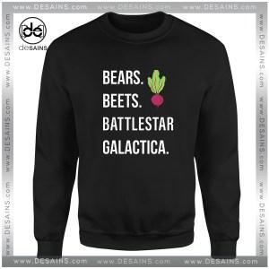 Cheap Graphic Sweatshirt The Office Bears Beets Battlestar Galactica