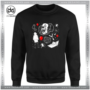 Cheap Graphic Sweatshirt Welcome to Derry Pennywise