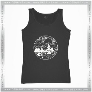 Cheap Graphic Tank Top I Hate People Camping Shirt
