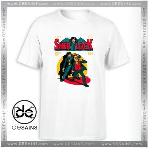 Cheap Tee Shirt Sherlock Holmes Comics Poster Tshirt Size S-3XL