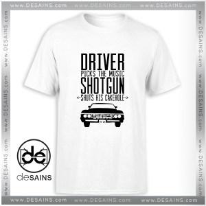 Cheap Tee Shirt Supernatural Driver Picks The Music Shotgun Shuts Tshirt Size S-3XL