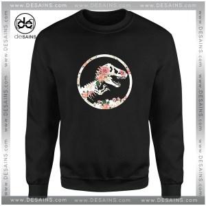 Cheap Graphic Sweatshirt Jurassic Floral Jurassic Park Size S-3XL