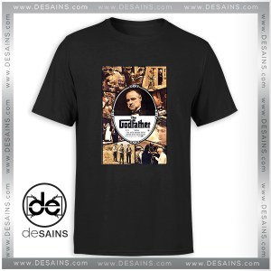 Cheap Tee Shirt The Godfather Movie Poster Vintage T-Shirt Size S-3XL