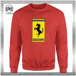 Cheap Sweatshirt Gay Pride Month Ferrari Logo Unicorn Crewneck Shop