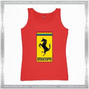 Cheap Tank Top Gay Pride Month Ferrari Logo Unicorn Tank Tops Adult