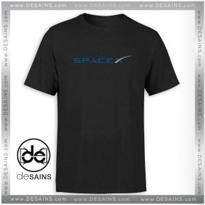Cheap Graphic Tee Shirt Space X Elon Musk Logo Tshirt Size S-3XL
