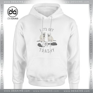 Cheap Hoodie Lets Get Trashy Animals Adult Unisex Size S-3XL