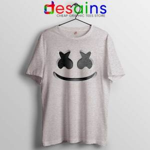 Buy Marshmello Helmet Tee Shirts Dj Marshmello Head Tshirt Sport Grey