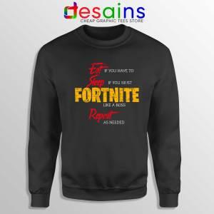 Sweatshirt Eat Sleep Fortnite Repeat Crewneck Size S-3XL
