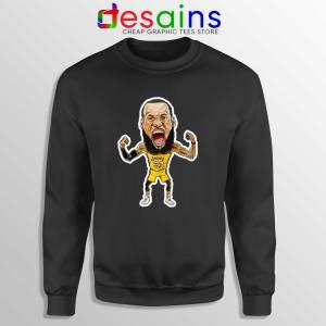 Best Lakers James Sweatshirt LeBron James Crewneck Size S-3XL Black
