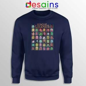 Buy Sweatshirt League Of Legends NBA Crewneck Navy Blue