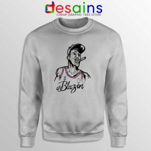 Buy Sweatshirt Michael Air Jordan Blazin Crewneck Sport Grey
