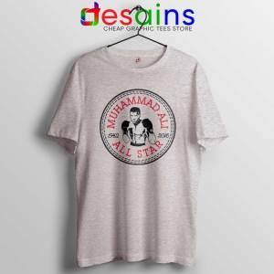 Cheap Tee Shirts Muhammad Ali All Star Converse Logo Sport Grey