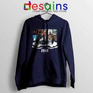 Hoodie Jordans 1996 Hip Hop Cheap Hoodies Navy Blue