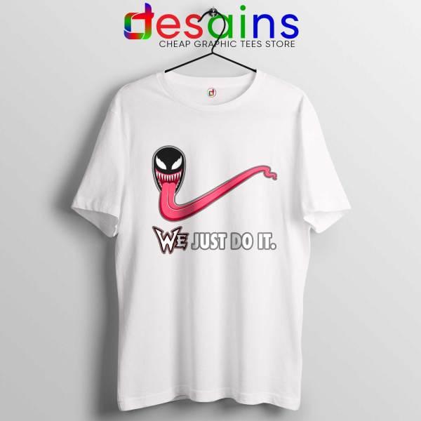 Tee Shirt Venom WE Just Do It T-shirt Marvel Size S-3XL White shirt