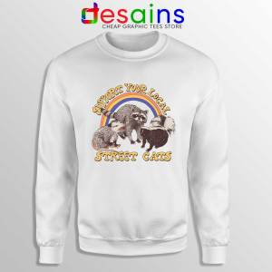 Buy Sweatshirt Street Cats Support Your Local Cheap Crewneck Sweater