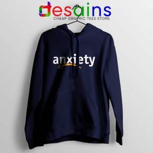 Cheap Hoodie Anxiety Amazon Logo Navy Blue Hoodies Adult Unisex