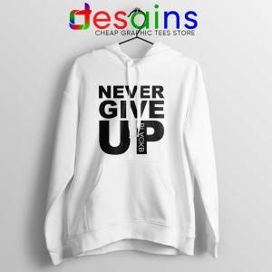 Cheap Hoodie Never Give Up Mohamed Salah Hoodies White