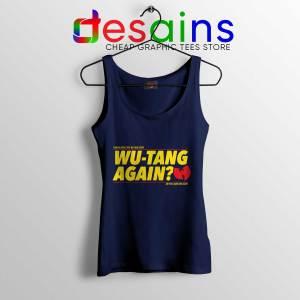 Cheap Tank Top Wu Tang Again and Again Tank Top Wu-Tang Clan Navy