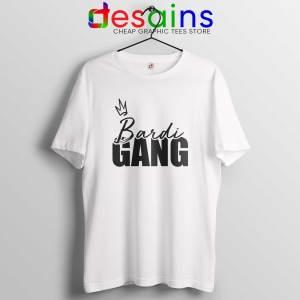 Bardi Gang Merch Tee Shirt White Cartier Bardi Cardi B T-Shirt Size S-3XL