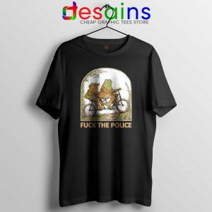 Cheap Tee Shirt Black Frog And Toad Fuck The Police Tshirt Funny Police