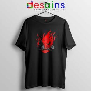 Cyberpunk 2077 Tee Shirt Samurai Demon Slim Graphic Tshirt