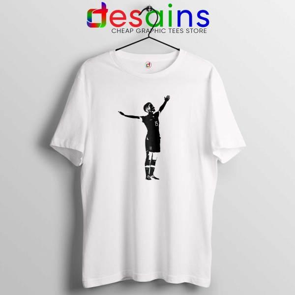 Best Megan Victory Pose White Tee Shirt Cheap Megan Rapinoe Tshirts