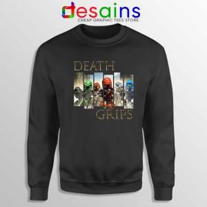 Cheap Bionicle Toa Mata Black Sweatshirt Death Grips Crewneck Sweater